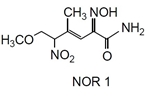 NOR 1 NOR 1, (+)-(E)-4-Methyl-2-[(E)-hydroxyimino]-5-nitro-6-methoxy-3-hexenamide [CAS: 163032-70-0]
