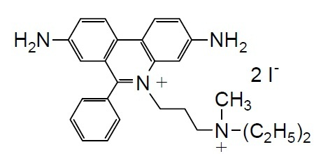 -Bacstain-PI Solution -Bacstain-PI solution, 3,8-Diamino-5-[3-(diethylmethylammonio)propyl]-6-phenylphenanthridinium diiodide, solution